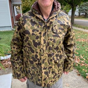 Vtg Stearns  Dry & Wear PVC Camo Hunting Jacket L